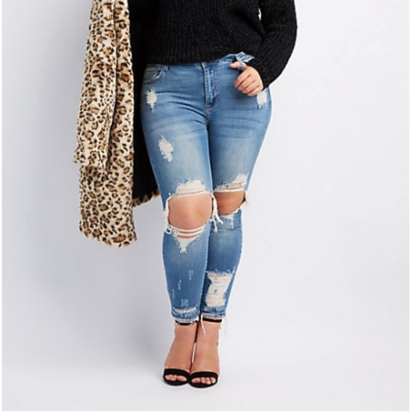 9a31b6b927d plus size Ripped jeans NWT SIZE 18